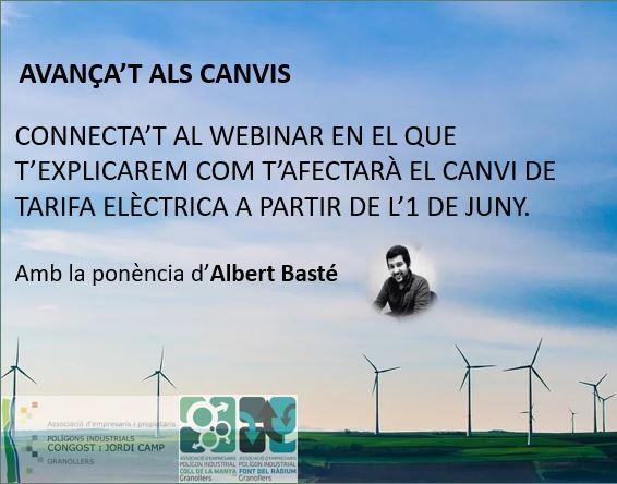 Webinar Nova Tarifa Electricitat