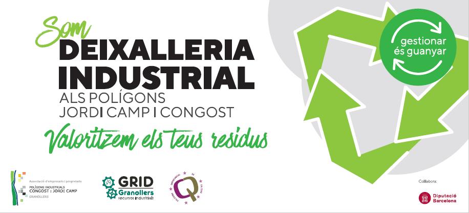 La Deixalleria Industrial dels Polígons Jordi Camp i Congost ha gestionat 13 tones de residus aquest 2021
